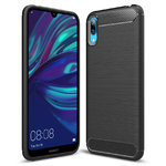 Flexi Carbon Fibre Tough Case for Huawei Y7 Pro (2019) - Brushed Black